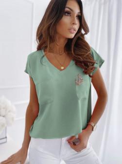 Γυναικεία μπλούζα με καρφίτσα 1983 μέντα