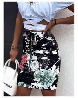 Γυναικεία φούστα με print 2148603