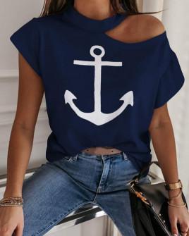 Γυναικεία μπλούζα 3842 σκούρο μπλε