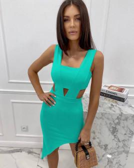 Γυναικείο εφαρμοστό φόρεμα 3670 μέντα