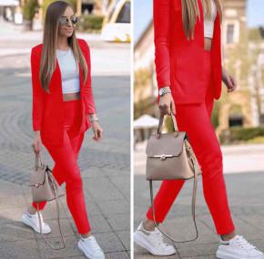 Γυναικείο σετ σακάκι και παντελόνι 5007 κόκκινο