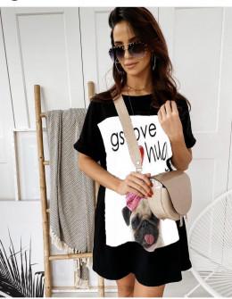 Γυναικείο μπλουζοφόρεμα με στάμπα 215606