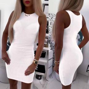 Γυναικείο εφαρμοστό φόρεμα 5582 άσπρο