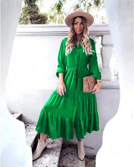 Γυναικείο μακρύ φόρεμα 8266 πράσινο