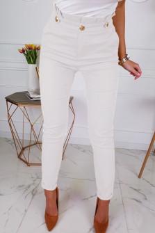 Γυναικείο ψηλόμεσο παντελόνι 3993 άσπρο