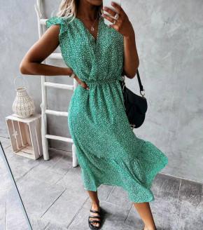 Γυναικείο φόρεμα κρουαζέ 21313 πράσινο