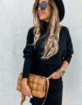 Γυναικείο σετ φούστα και μπλούζα 26891 μαύρο
