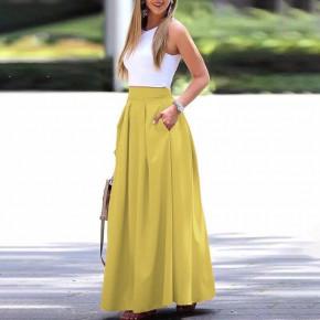 Γυναικεία μακριά φούστα 5002 κίτρινη