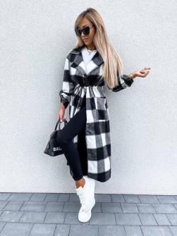 Γυνακείο καρό παλτό 2111