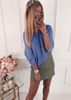 Γυναικεία πλεκτή μπλούζα 4440 μπλε