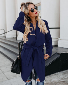 Γυναικείο παλτό 1220 σκούρο μπλε
