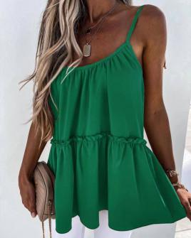 Γυναικείο τοπάκι με κορδόνια 5645 πράσινο