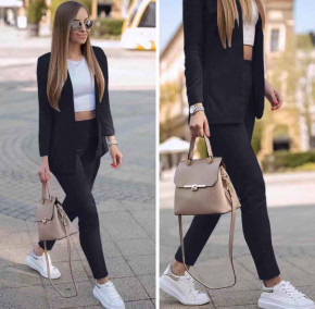 Γυναικείο σετ σακάκι και παντελόνι 5007 μαύρο
