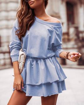 Γυναικείο κλος φόρεμα 21303 γαλάζιο