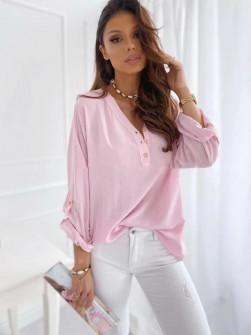 Γυναικείο χαλαρό πουκάμισο 5019 ροζ