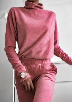 Γυναικείο σετ βελουτέ 4104 ροζ