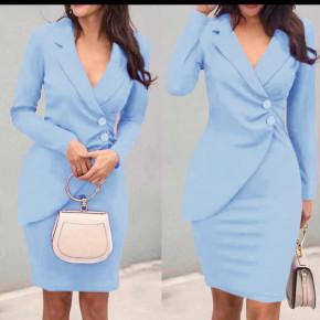 Γυναικείο κομψό φόρεμα 1933 γαλάζιο