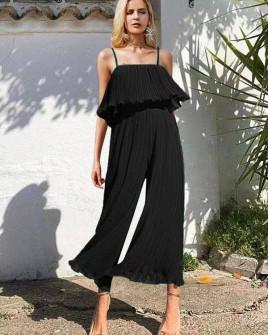 Γυναικεία ολόσωμη φόρμα σολέιγ 27918 μαύρο