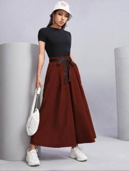 Γυναικείο παντελόνι 18128 μπορντό