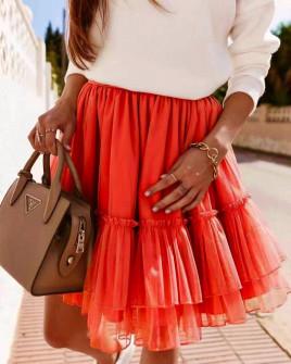 Γυναικεία φούστα τούλι 3574 κόκκινη
