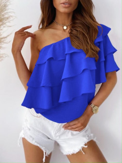Γυναικεία έξωμη μπλούζα 5121 μπλε