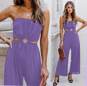 Γυναίκεια εντυπωσιακή ολόσωμη φόρμα 2354 μωβ