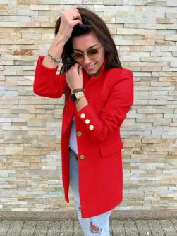 Γυναικείο σακάκι με χρυσά κουμπιά 5016 κόκκινο