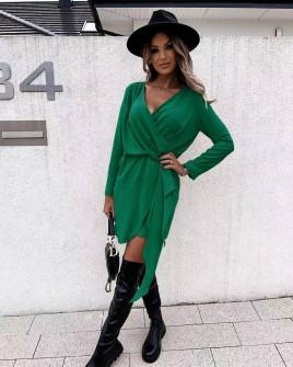 Γυναικείο κομψό φόρεμα 5987 πράσινο