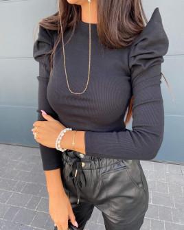 Γυναικεία εντυπωσιακή μπλούζα  2509 μαύρη
