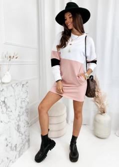 Γυναικείο μλουζοφόρεμα σε τρία χρώματα 3592 ροζ