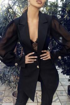 Γυναικείο κομψό σετ σακάκι και παντελόνι 2518 μαύρο