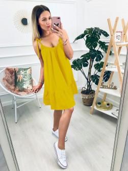 Γυναικείο φόρεμα 3693 κίτρινο
