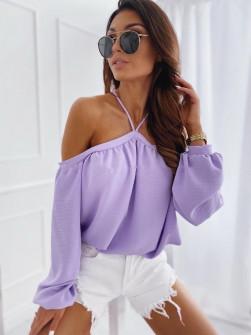 Γυναικεία έξωμη μπλούζα 3374 μωβ
