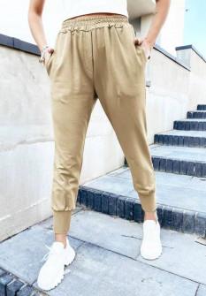 Γυναικείο χαλαρό παντελόνι 61544 μπεζ