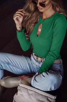 Γυναικεία εντυπωσιακή μπλούζα  6053 πράσινο