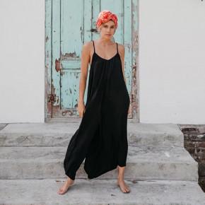 Γυναικεία χαλαρή ολόσωμη φόρμα 5165 μαύρη