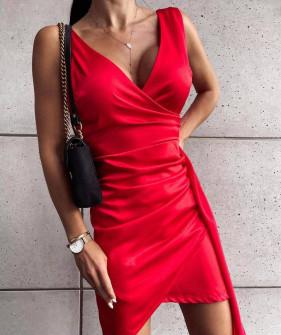 Γυναικείο εφαρμοστό φόρεμα 8237 κόκκινο