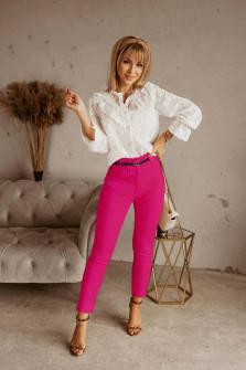 Γυναικείο παντελόνι με ζώνη 5553 φούξια