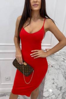 Γυναικείο εφαρμοστό φόρεμα 4531 κόκκινο