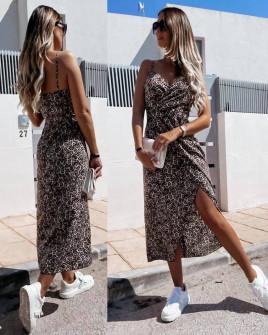 Γυναικείο φόρεμα με λεοπάρ print 21253