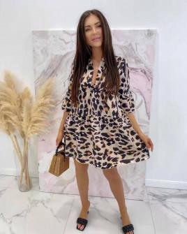 Γυναικείο φόρεμα με τιγρέ print 5564