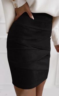 Γυναικεία σουέτ φούστα 5367  μαύρη