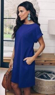 Γυναικείο φόρεμα 12204 μπλε
