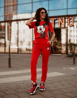 Γυναικείο σετ 13354 κόκκινο