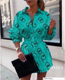 Γυναικεία πουκαμίσα 398305 τυρκουάζ