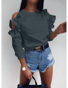 Γυναικεία μπλούζα έξωμη 5265 γραφίτη