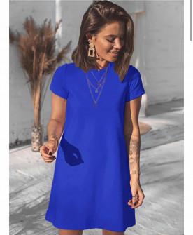 Γυναικείο μπλουζοφόρεμα 5166 μπλε