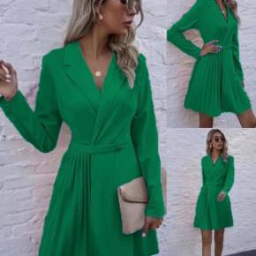 Γυναικείο εντυπωσιακό μπλουζοφόρεμα 8064 πράσινο