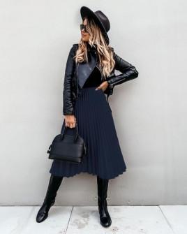 Φούστα σολέιγ 7563 σκούρο μπλε