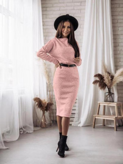 Εφαρμοστό φόρεμα 3403 ροζ